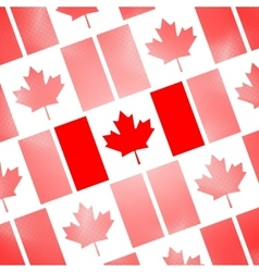 National flag of canada day abstract dotted vector
