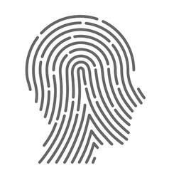 symbol fingerprint head vector image