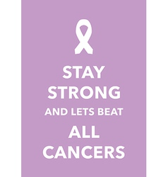 all cancers poster vector image vector image