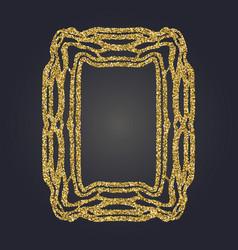 art nouveau gold glitter frame art deco border vector image vector image