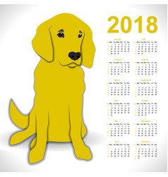 calendar with dog vector image