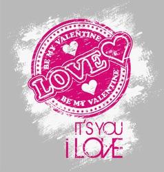 love valentine vector image