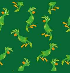 Parrot seamless pattern vector