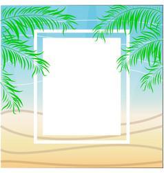 tropical summer beach party poster design vector image vector image