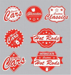 Classic Cars Labels vector image vector image