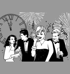 happy new year party vector image vector image