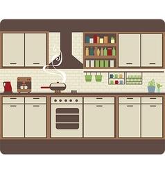 Kitchen interior vector image vector image