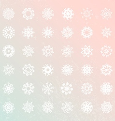 Snowflake Collection vector image
