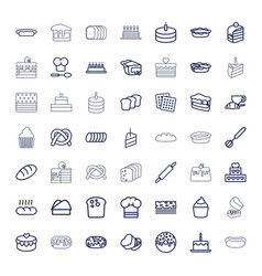49 bakery icons vector