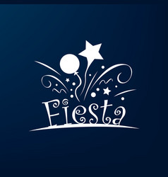 Abstract logo for the fiesta vector