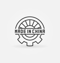 abstract made in china symbol vector image