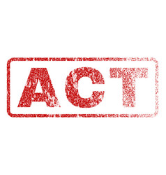 Act rubber stamp vector
