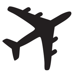 airplane black icon vector image