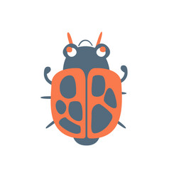 Bed bug soldier cartoon colorful character vector