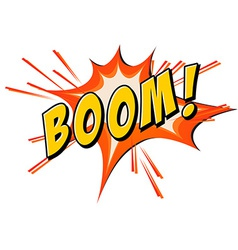 Boom flash on white vector image