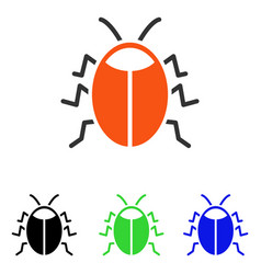 Bug flat icon vector