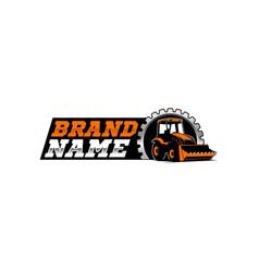 Bulldozer logo template vector
