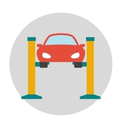 Car lifting flat icon vector image