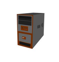 case desktop computer vector image