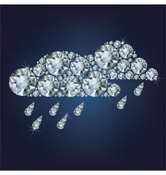 Clouds made up a lot of diamonds vector image