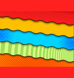 Comic colorful banners vector
