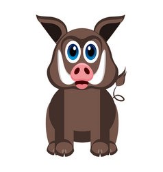 cute wild pig vector image