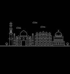 Delhi city silhouette skyline india - delhi city vector