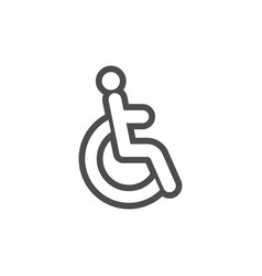 disable icon graphic design template vector image