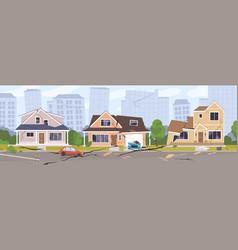 earthquake city panorama vector image