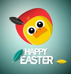 Easter Chick - Chicken Card vector