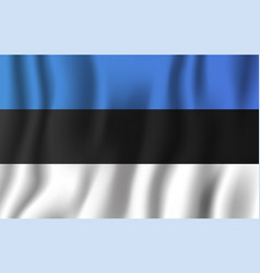 Estonia realistic waving flag national country vector