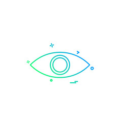 eye eyeball look search spy vision icon desige vector image