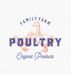 Family farm organic fresh poultry abstract vector