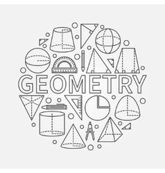 Geometry round symbol vector