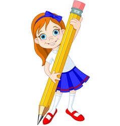 Girl pencil vector