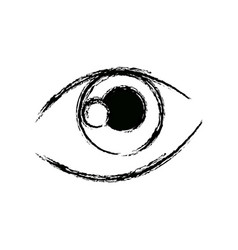 Graffiti eye expression vision draw image vector