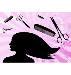 haircut vector image