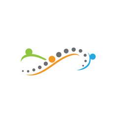 infinity spine diagnostics symbol design vector image