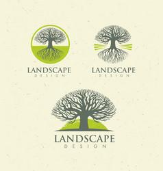 landscape design creative concept tree vector image