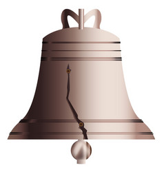 Liberty bell with crack vector