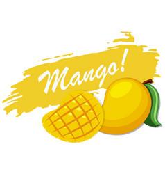 Logo design with fresh mango vector