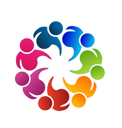 logo teamwork business community people vector image