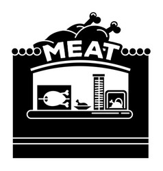 meat street kiosk icon simple style vector image