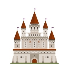 Medieval fortified castle of king or lord symbol vector image vector image