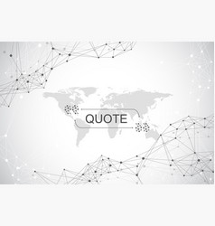 modern background quote quote frame vector image