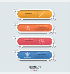 modern infographic template vector image