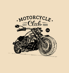 motorcycle advertising poster sketched vector image