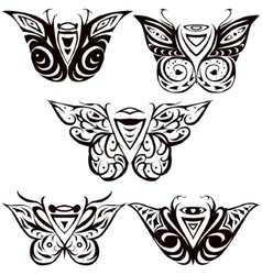 night butterfly hawkmoth vector image