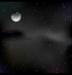 night sky with moon and stars vector image
