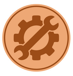 Optional gear bronze coin vector